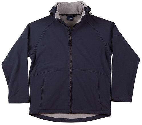 Mens Team Softshell Hood Jacket Men's - Navy x6