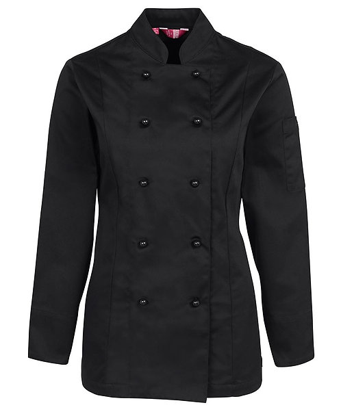 Ladies LS Chef's Jacket - Black