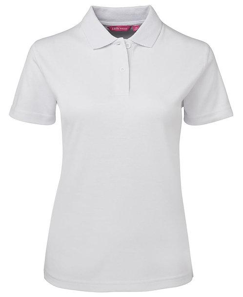 Ladies Jersey Polo - White