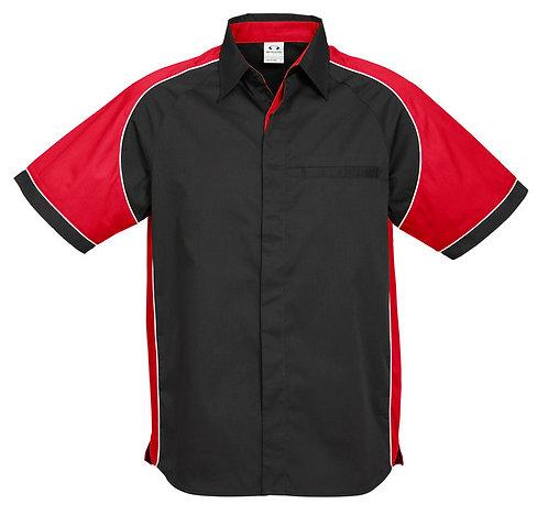 Mens Nitro Shirt - Black/Red/White