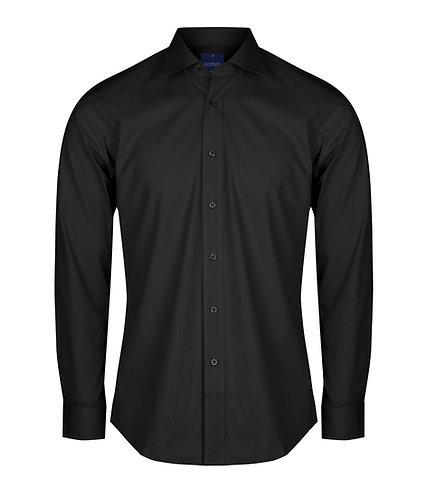Mens Premium Poplin Shirt - Black