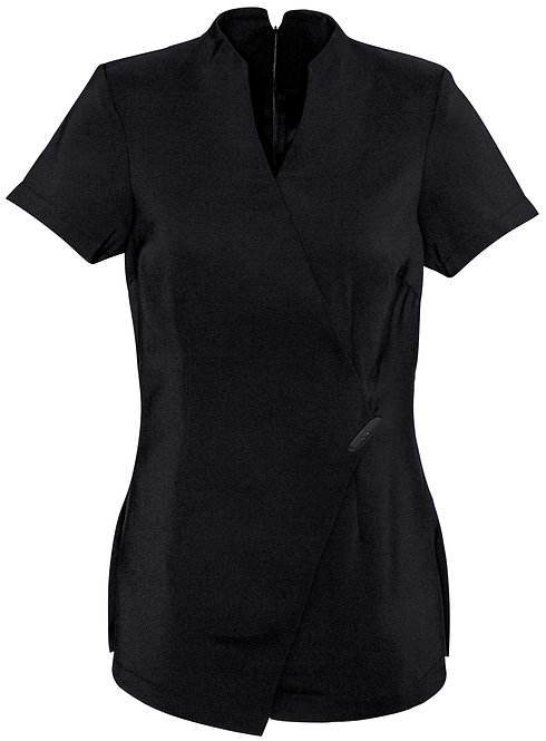 Womens Modern Spa Tunic - Black