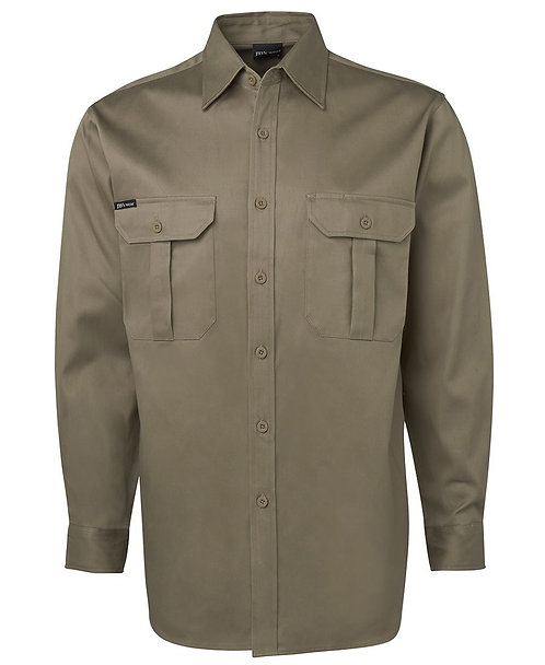 JB's L/S 190G Work Shirt - Khaki