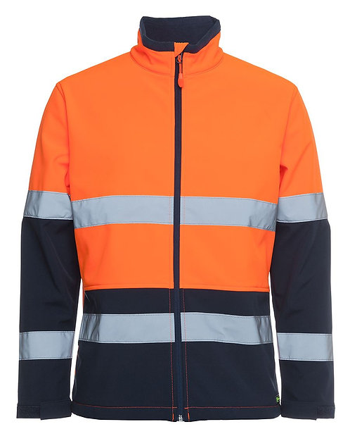 Hi Vis D+N Water Resistant Softshell Jacket - Orange/Navy