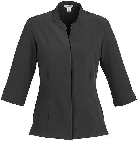 Womens L/S Hospitality Shirt - Charcoal
