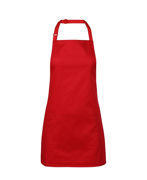 Apron with Pocket (Short) - Red