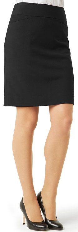 Womens Classic Knee Length Skirt - Black