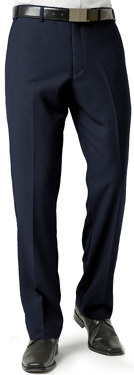 Mens Classic Pleat Front Pant -Navy