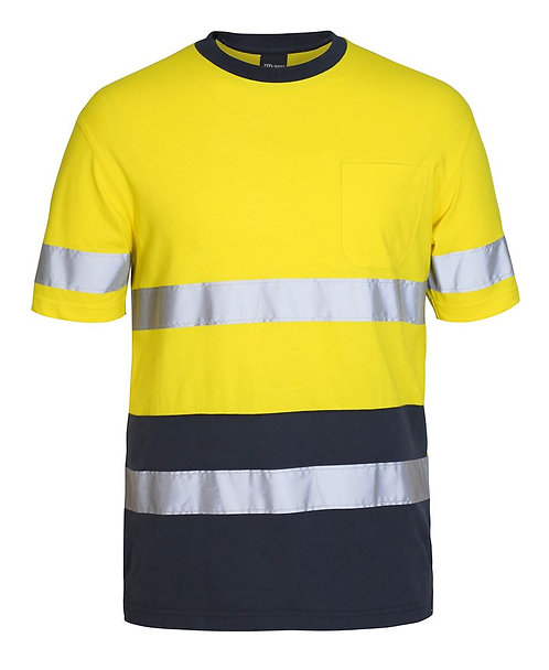 Cotton T-Shirt with Tape - Yellow/Navy