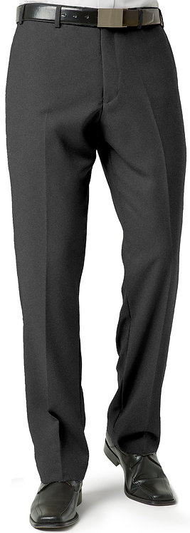 Mens Classic Pleat Front Pant - Charcoal