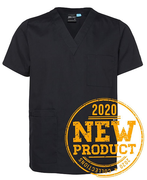 Unisex Essential Scrubs Top - Black