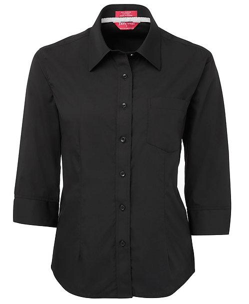 Womens Hospitality 3/4 Shirt - Black
