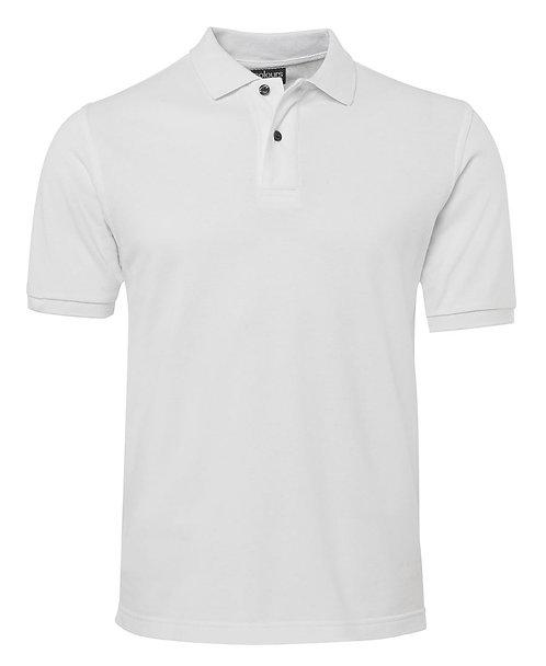 Mens 100% Cotton Pique SS Polo - White