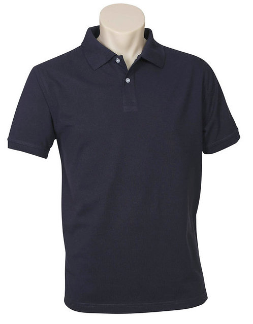 Men's Neon Polo - Navy