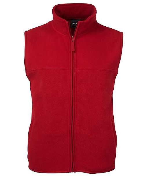Polar Zip Vest Red