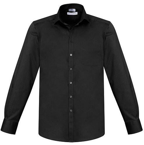Mens Monaco L/S Shirt - Black