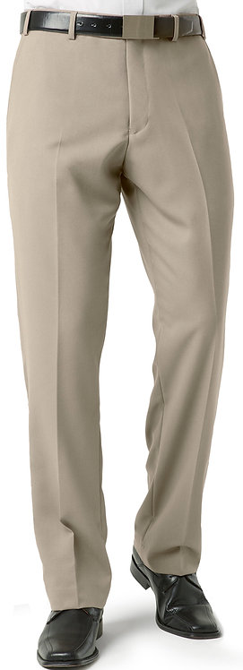 Mens Classic Pleat Front Pant -Taupe
