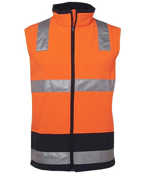 Hi-Vis Softshell Vest (D+N) - Orange/Navy