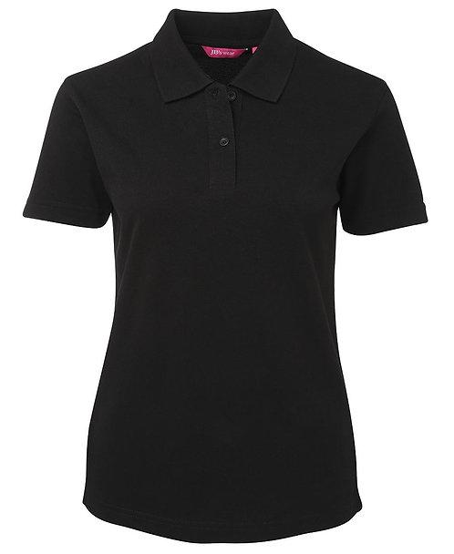Ladies Basic Pique SS Polo - Black