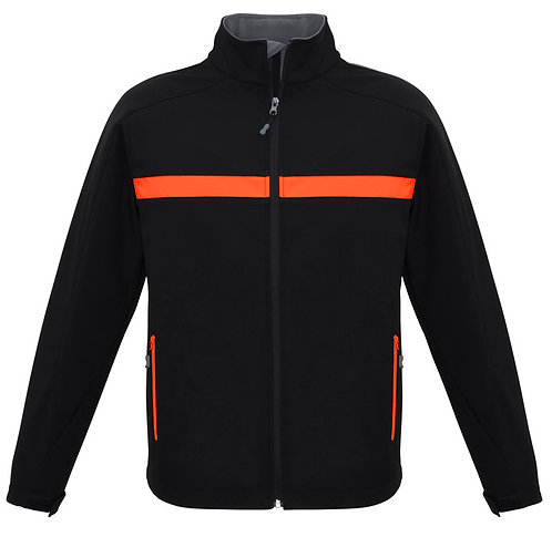 Unisex Charger Jacket - Black/Fluro Orange/Grey