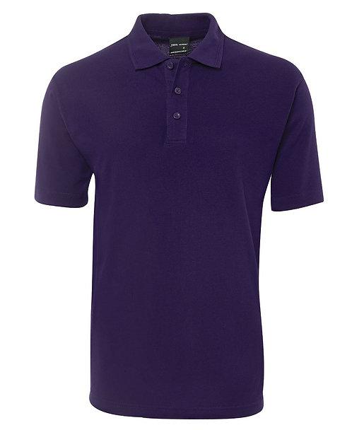 Mens Basic Pique Polo SS - Purple