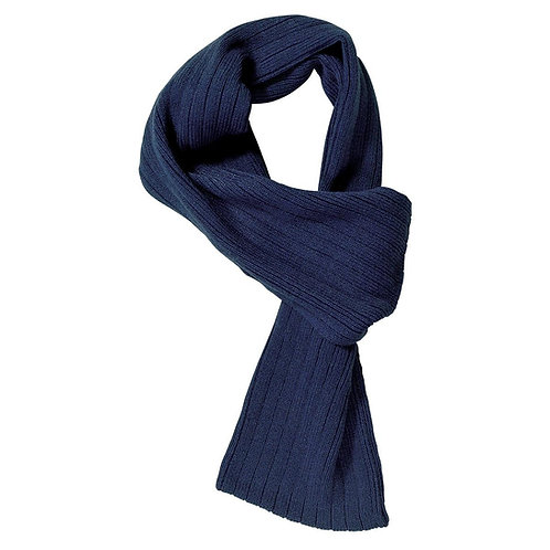 Cable Knit Scarf Navy - MOQ 10