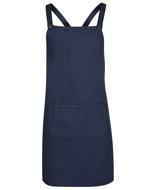 Navy Canvas Cross Back Apron with Changeable Straps