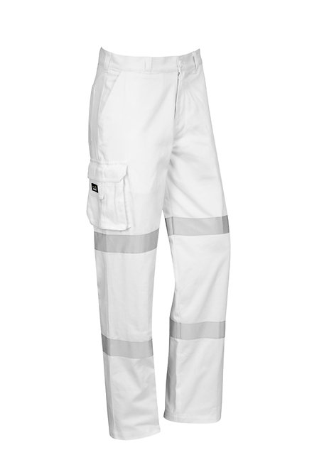 Mens Bio Motion Taped Pant - White