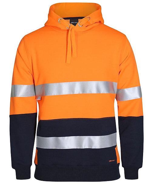 Hi-Vis D+N 330G Pullover Hoodie - Orange/Navy