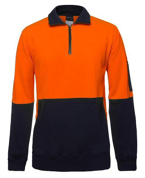 Hi Vis 330G 1/2 Zip Fleece - Orange/Navy