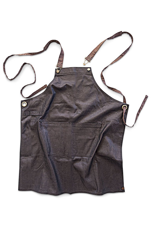 Boulder Black/Brown Cross Back Apron