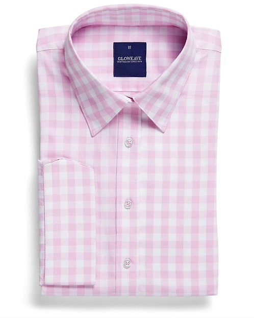 Womens Oxford Check Shirt Pink