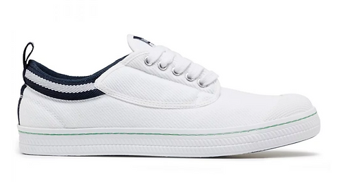Dunlop Volley Classic Canvas - White /Navy
