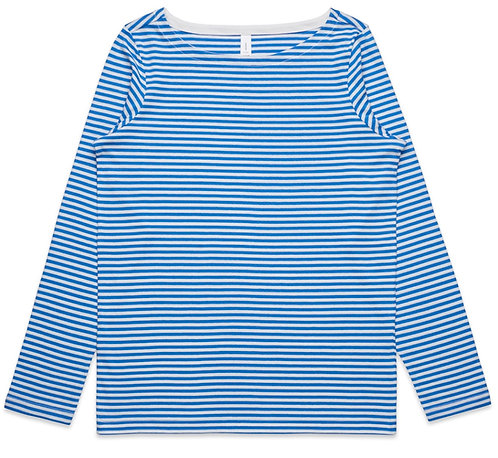 AS Colour Womens Bowery Stripe L/S Tee Natural/Mid Blue: Available From