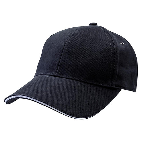 Sandwich Peak Cap Black/White -  Pack of 10