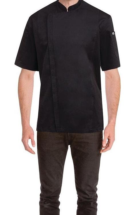 Springfield Mens Zipper Chef Jacket - Black