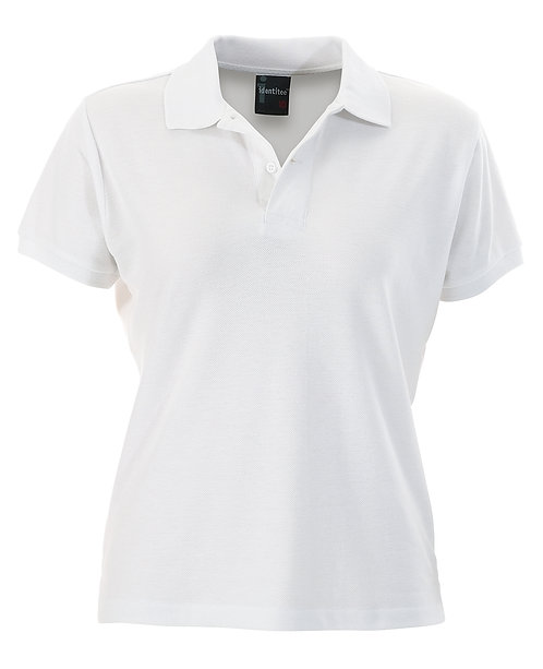 Ladies Slim Fit Venice Polo - White MOQ 2
