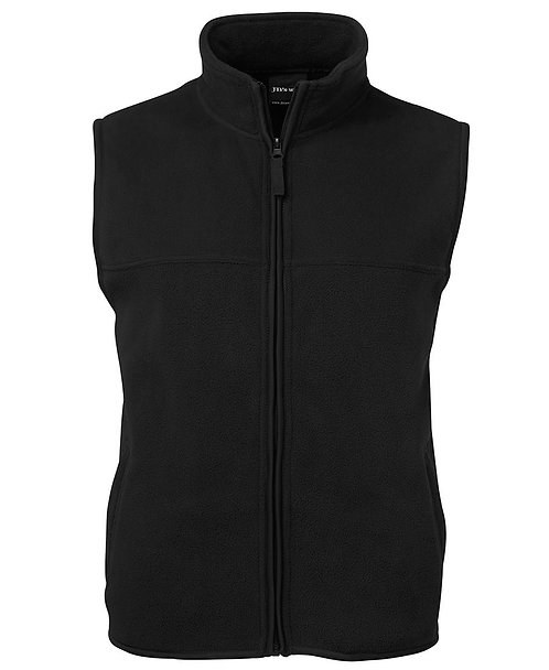 Polar Zip Vest Black