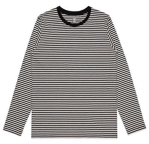 AS Colour Mens Bowery Stripe L/S Tee Black/Natural: Available From