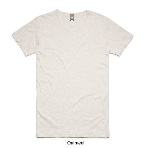 AS Colour Mens Long Shadow Tee Oatmeal Marle- Available from