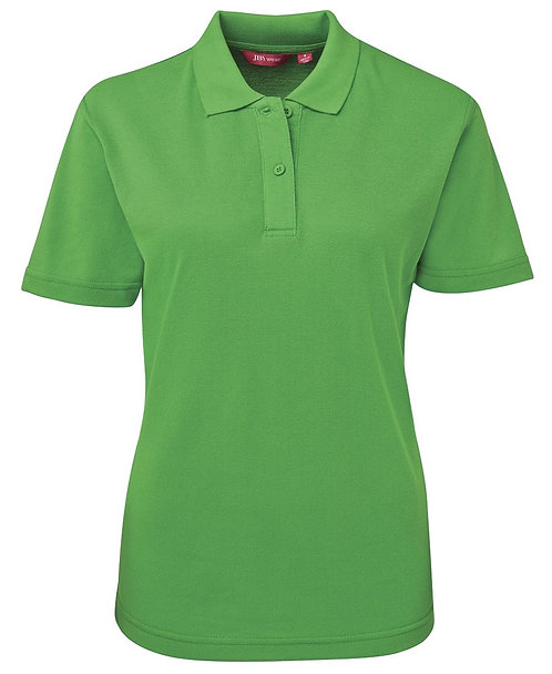 Ladies Basic Pique SS Polo - Pea Green