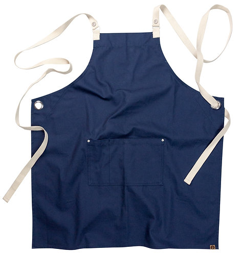 Byron Canvas Cross Back Apron - Navy MOQ 3