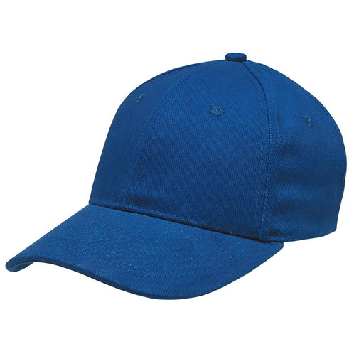 Heavy Brushed Cotton Cap Royal - Pack of 10