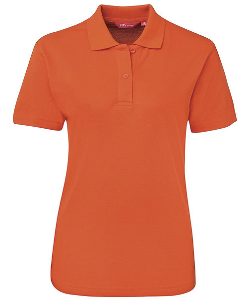 Ladies Basic Pique SS Polo - Orange