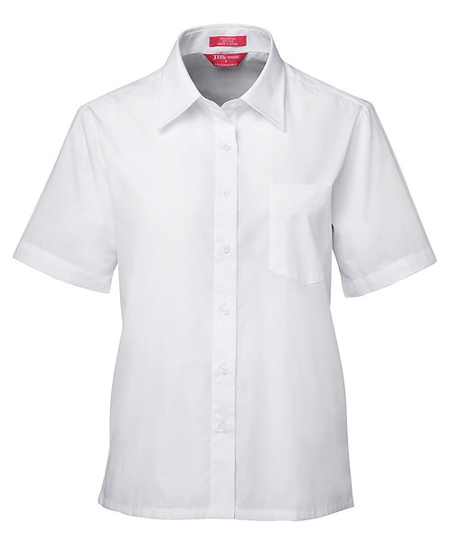 Womens SS Poplin Shirt - White