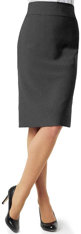 Womens Classic Below Knee Skirt - Charcoal