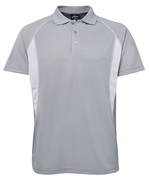 Adults Podium Insert Poly Polo - Silver/White
