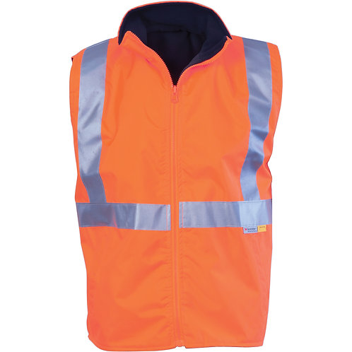 HiVis Reversible Vest with 3M R/Tape - Orange/Navy