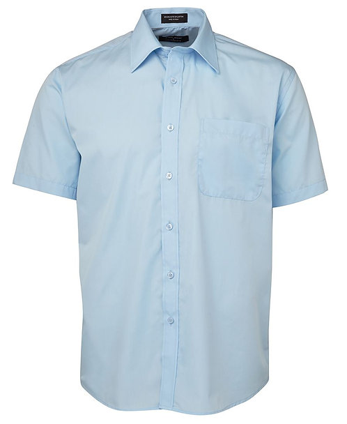 Mens SS Poplin Shirt - Blue