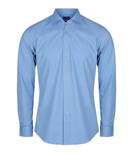Mens Premium Poplin Shirt - Blue